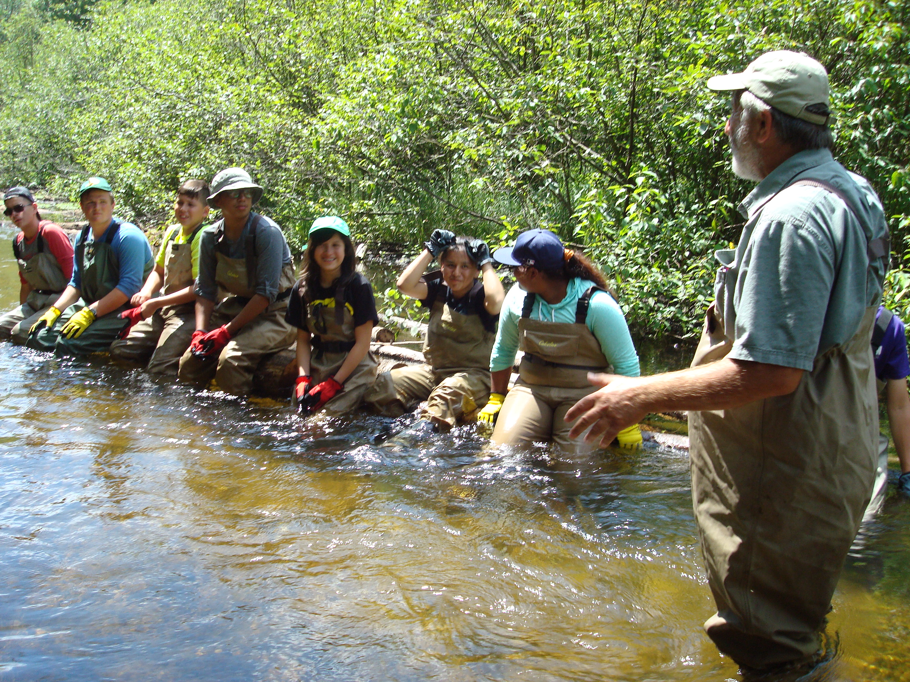 Youth fly fishing and conservation camp illinois council for Trout fishing illinois